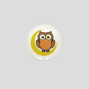 OWL ON MOON APPLIQUE Mini Button
