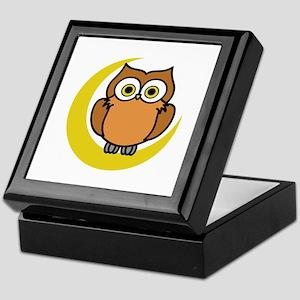OWL ON MOON APPLIQUE Keepsake Box