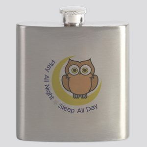 PLAY ALL NIGHT Flask
