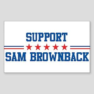 Support SAM BROWNBACK Rectangle Sticker