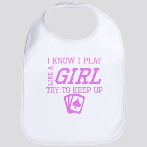 Poker Like A Girl Bib