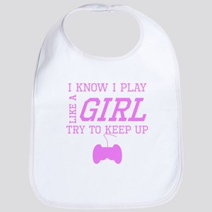 Video Games Like A Girl Bib