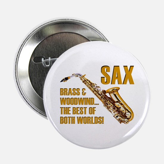 Sax - The Best of Both Worlds Button