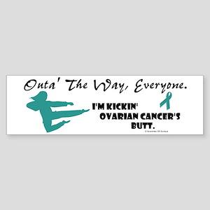 Kickin' Ovarian Cancer's Butt Bumper Sticker