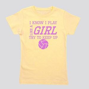 Volleyball Like A Girl Girl's Tee