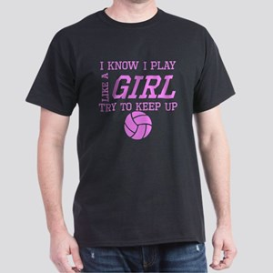 Volleyball Like A Girl T-Shirt