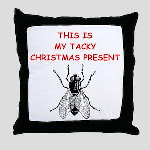 tacy christmas present Throw Pillow