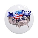 Build The Fence Ornament (Round)