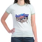 Build The Fence Jr. Ringer T-Shirt