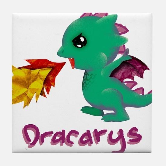 Cute Dragon Dracarys Tile Coaster