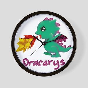 Cute Dragon Dracarys Wall Clock