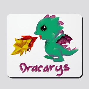 Cute Dragon Dracarys Mousepad