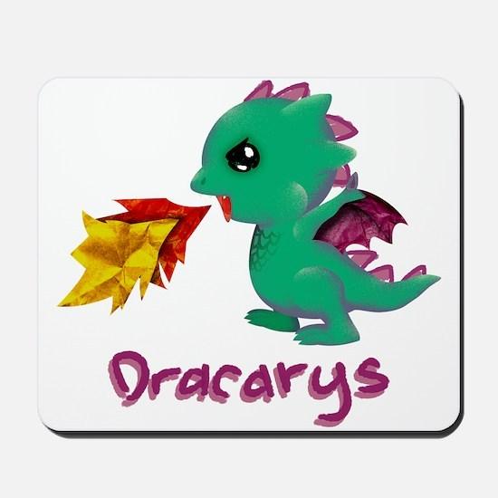 Cute Dragon Dracarys Mousepad