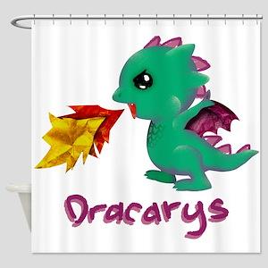Cute Dragon Dracarys Shower Curtain