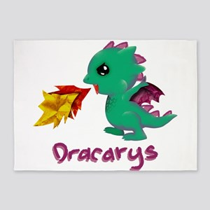 Cute Dragon Dracarys 5'x7'Area Rug