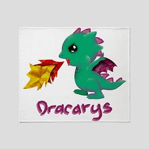 Cute Dragon Dracarys Throw Blanket
