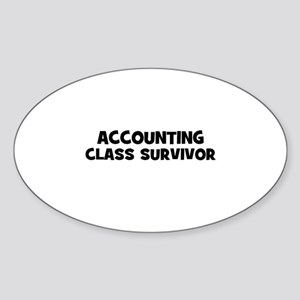 accounting Class Survivor Oval Sticker