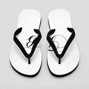 52d03a32ef0c Tb Initials Flip Flops - CafePress