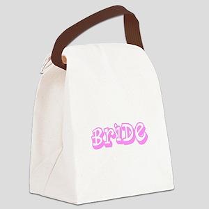 Pink Im the Bride Wedding Designe Canvas Lunch Bag
