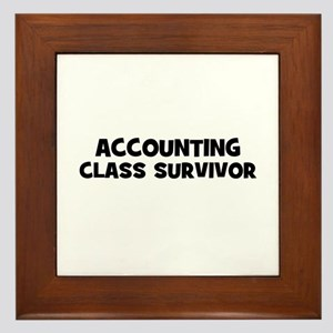 accounting Class Survivor Framed Tile