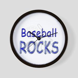 Baseball Rocks Wall Clock