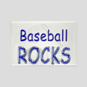 Baseball Rocks Rectangle Magnet