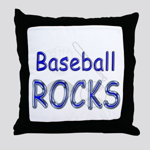 Baseball Rocks Throw Pillow