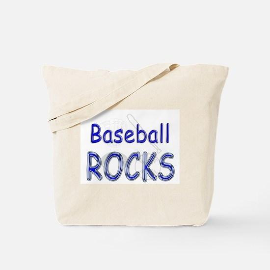 Baseball Rocks Tote Bag