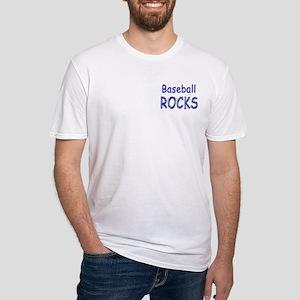 Baseball Rocks Fitted T-Shirt