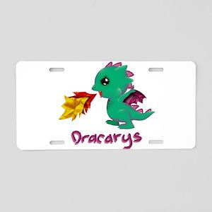 Cute Dragon Dracarys Aluminum License Plate