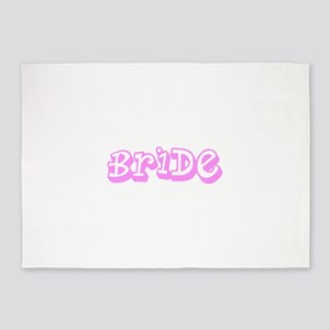 Pink Im the Bride Wedding Designer 5'x7'Area Rug