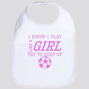 Soccer Like A Girl Bib