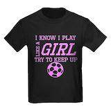 Girls soccer Kids T-shirts (Dark)