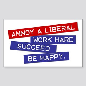 """Annoy a Liberal"" Rectangle Sticker"