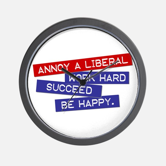 """Annoy a Liberal"" Wall Clock"