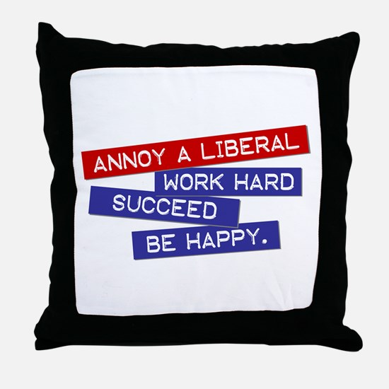 """Annoy a Liberal"" Throw Pillow"