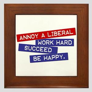 """""""Annoy a Liberal"""" Framed Tile"""