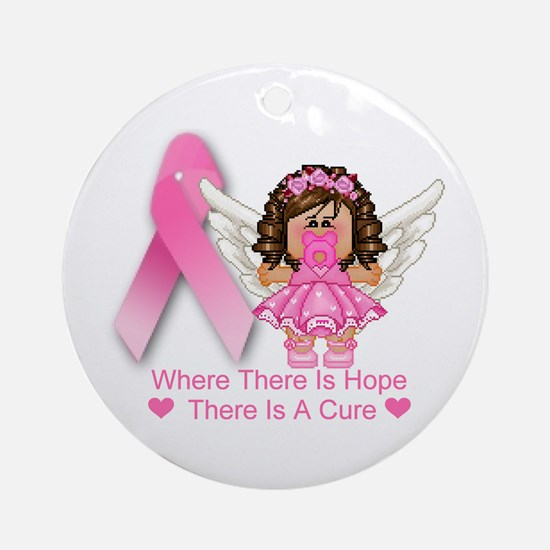 BREAST CANCER (HOPE) Ornament (Round)