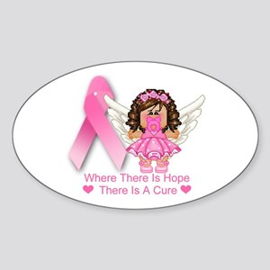 BREAST CANCER (HOPE) Oval Sticker