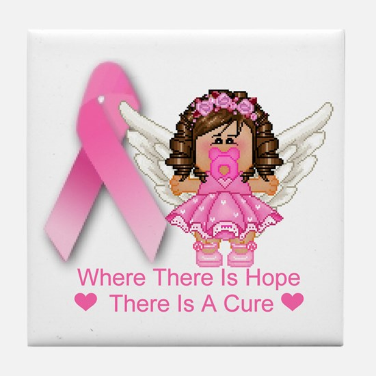 BREAST CANCER (HOPE) Tile Coaster