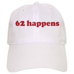 62 happens (red) Baseball Cap