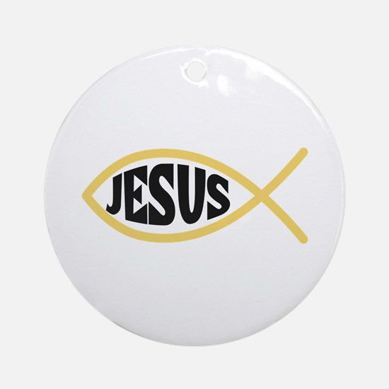 JESUS FISH Ornament (Round)