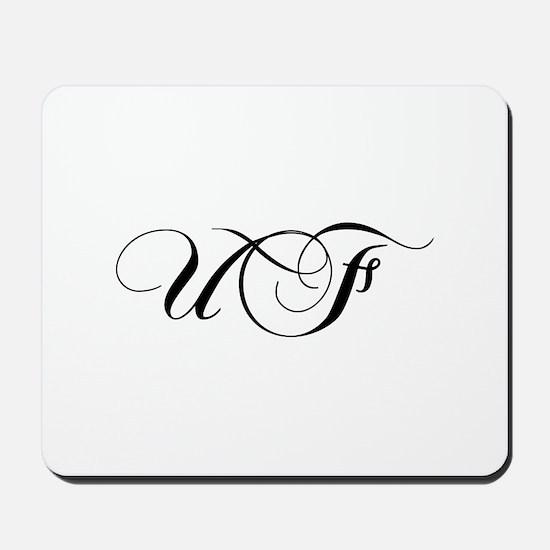 UF-cho black Mousepad