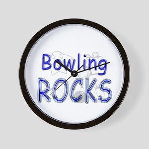 Bowling Rocks Wall Clock