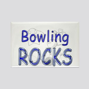 Bowling Rocks Rectangle Magnet
