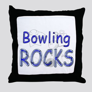 Bowling Rocks Throw Pillow
