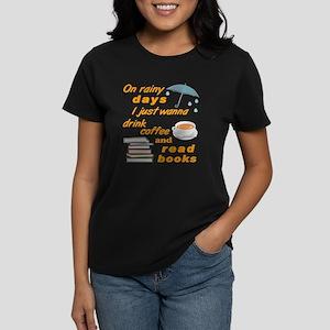 Rain Coffee Books T-Shirt