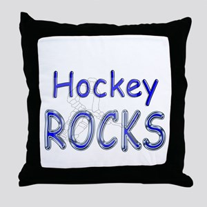Hockey Rocks Throw Pillow