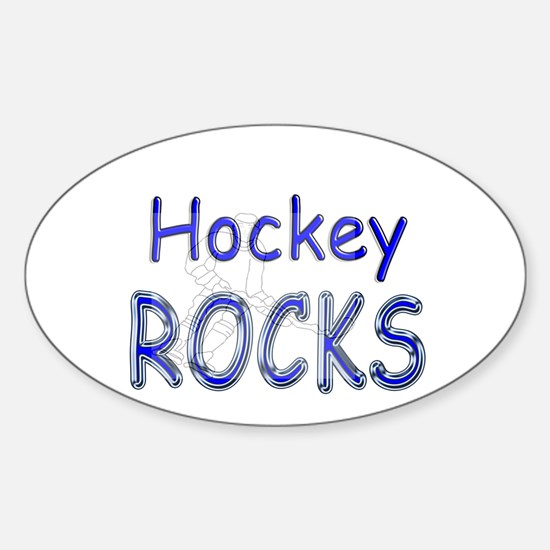 Hockey Rocks Oval Decal