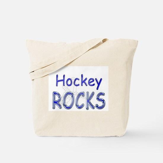Hockey Rocks Tote Bag